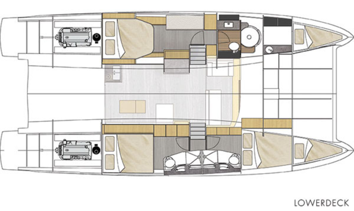 Cumberland 47 LC - lowerdeck layout