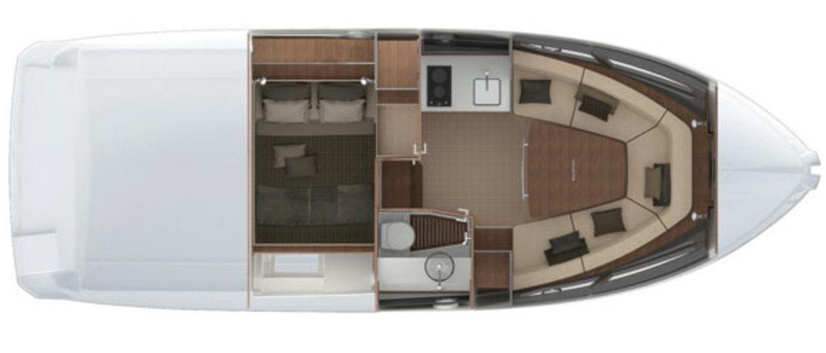 Azimut Atlantis 34 - deck plans - Lower deck
