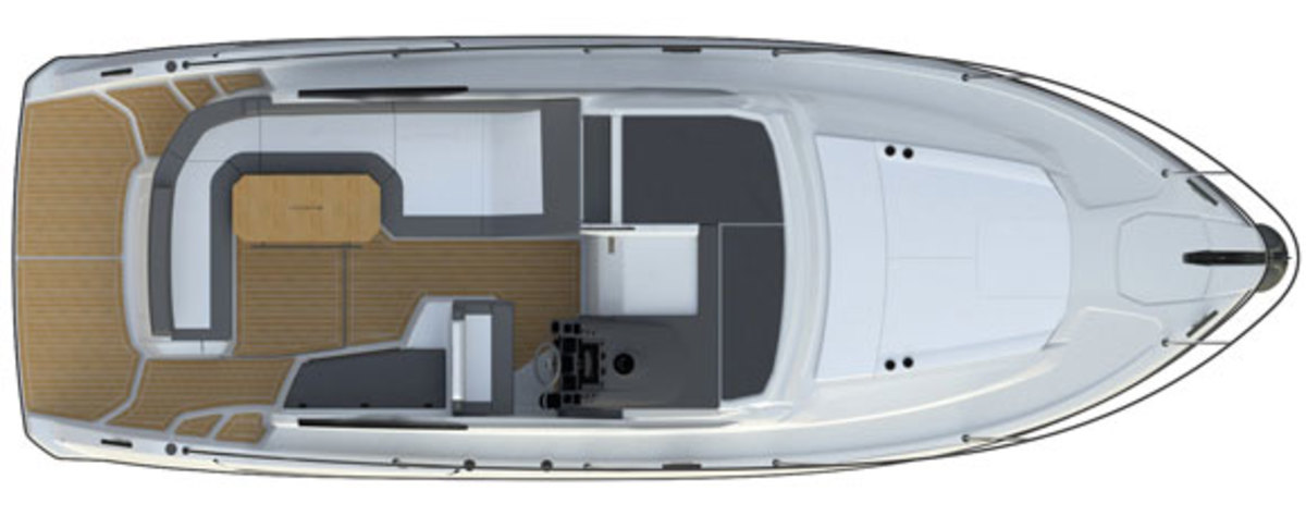 Azimut Atlantis 34 - deck plans - Main deck
