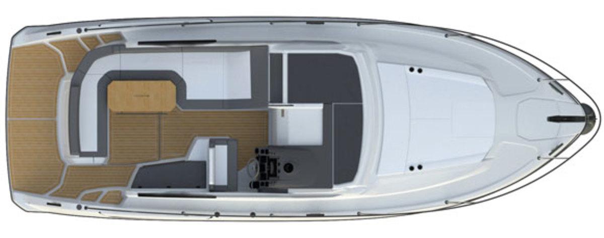 Azimut Atlantis 34 - deck plans - Main deck