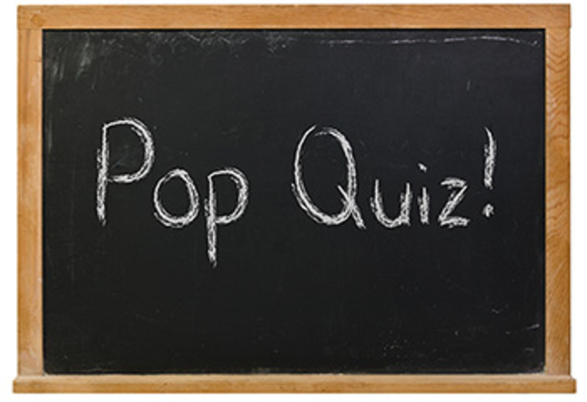 Pop Quiz blackboard