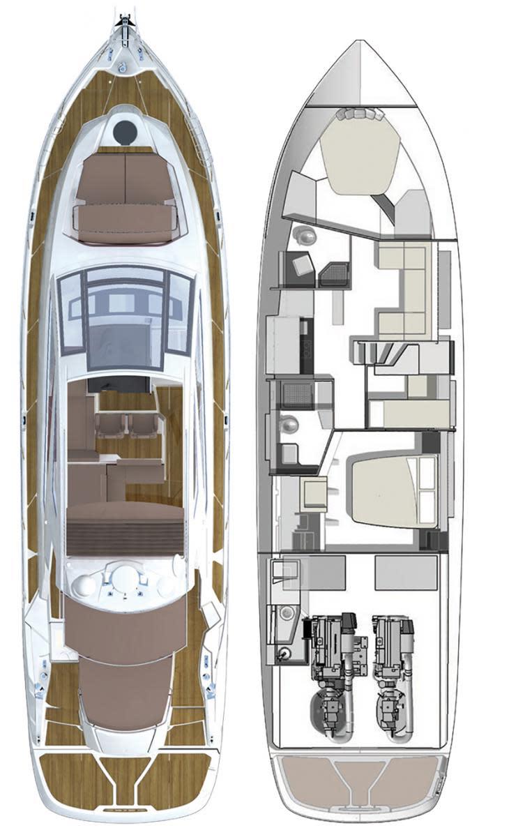 Cranchi 60 ST layout diagram