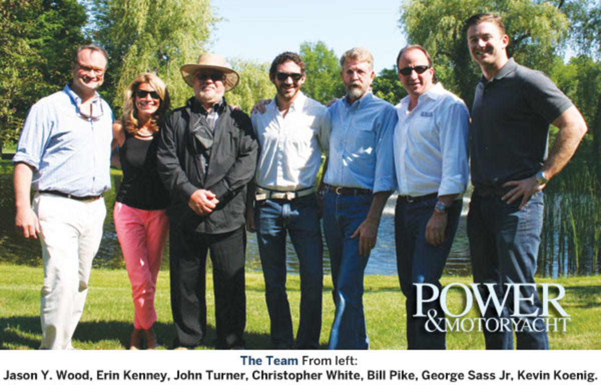 The PMY Crew (from left): Jason Y. Wood, Erin Kenney, John V. Turner, Christopher White, Bill Pike, George Sass Jr, Kevin Koenig.
