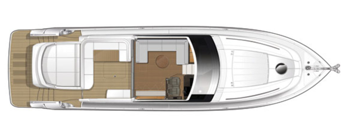 Princess V62-S upper deck diagram