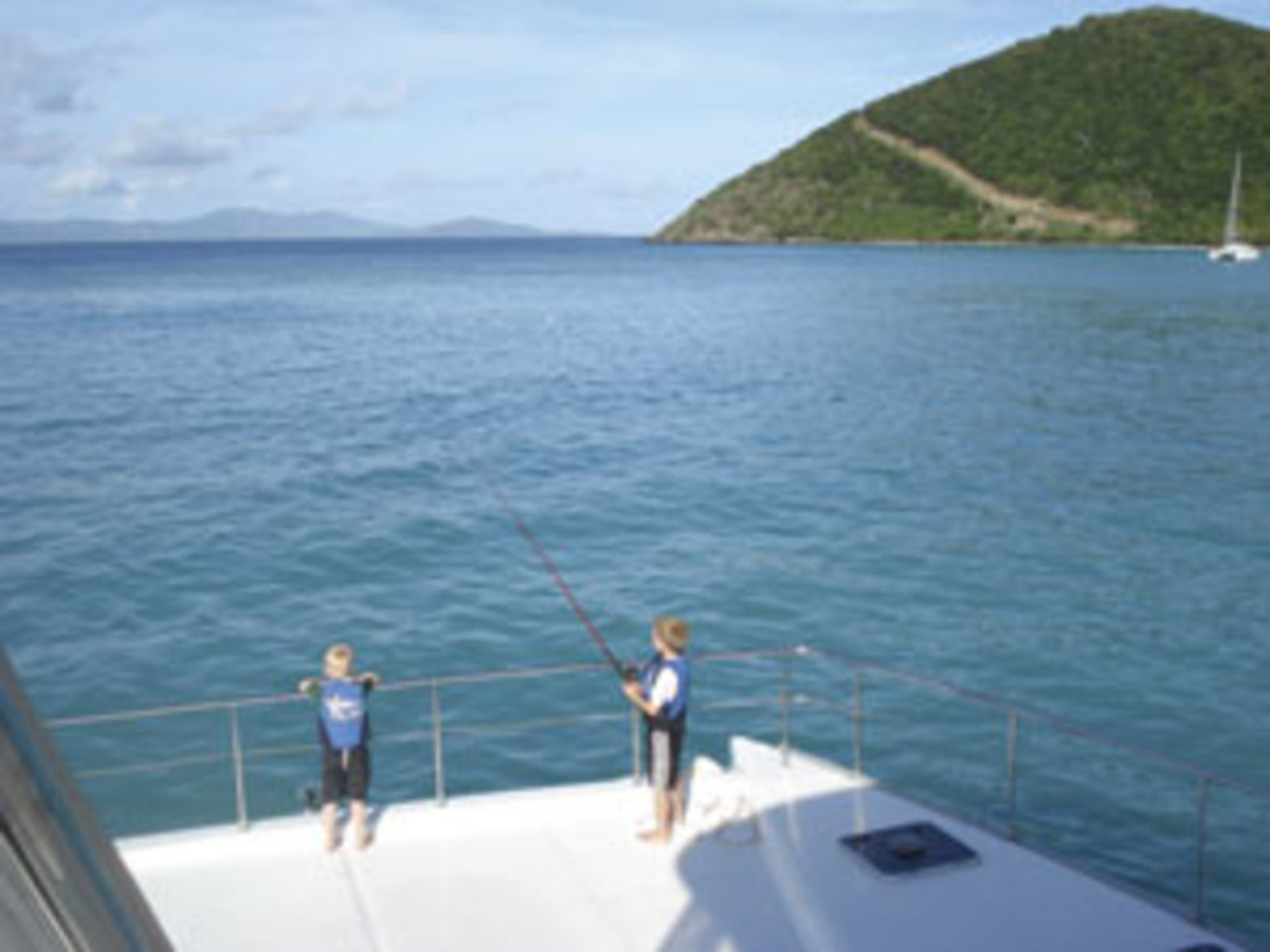 fishing on a bareboat charter yacht
