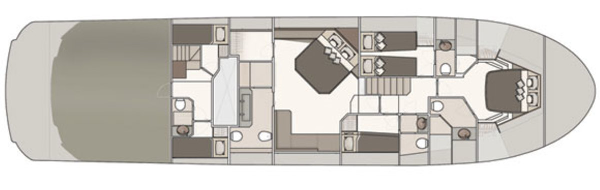MCY70 - lower deck layout digram
