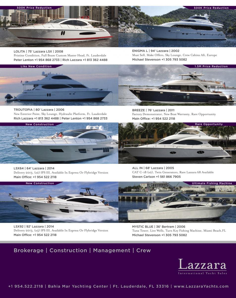 Lazzara International Yacht Sales boats for sale