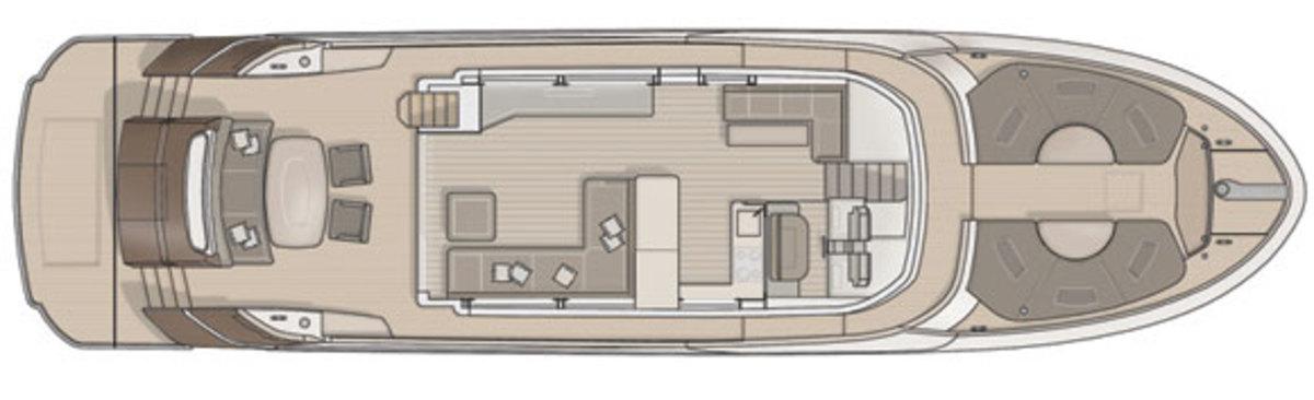 MCY70 - upper deck layout digram