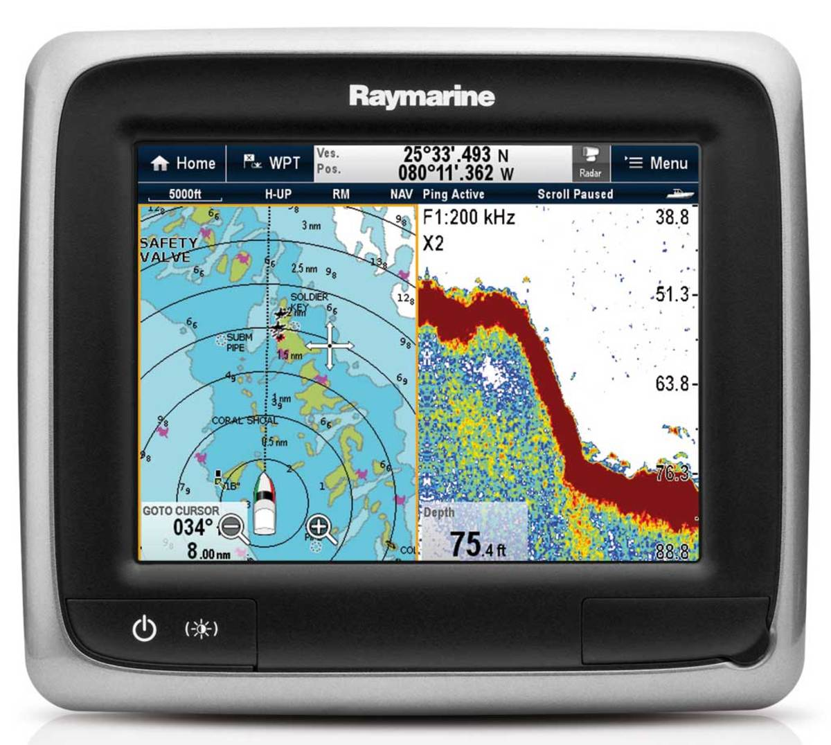Raymarine a67 Multifunction Display - Click to enlarge