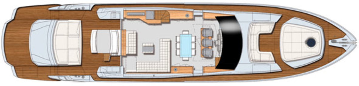 Pershing 82 - Main Deck