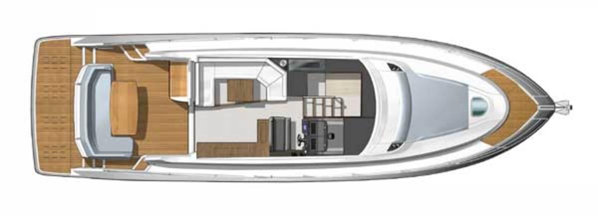 Beneteau Gran Turismo 49 Fly layout diagram - maindeck