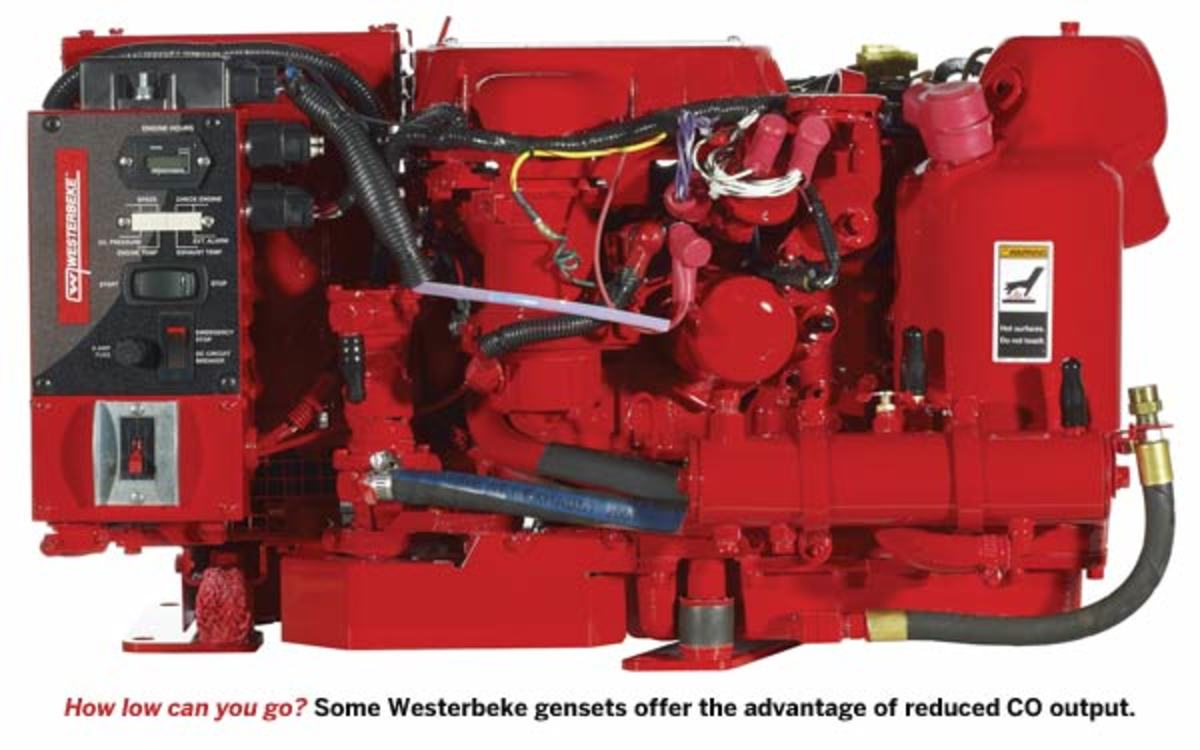 Some Westerbeke gensets offer the advantage of reduced CO output.