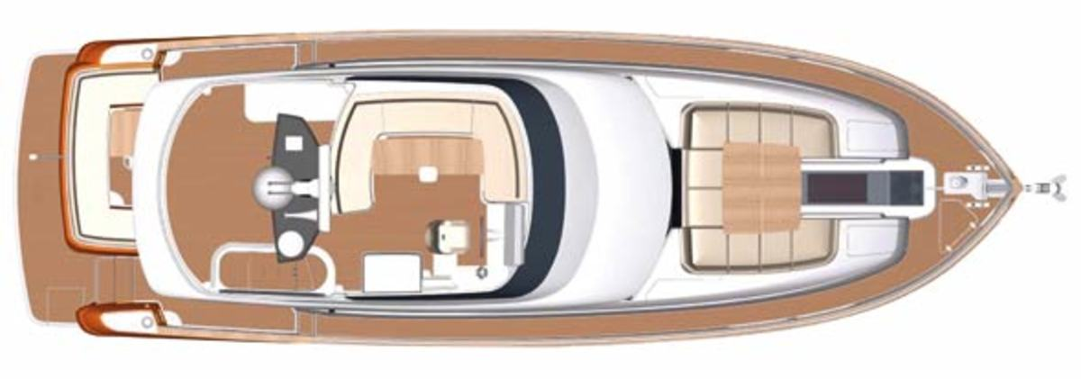 Magellano 50 Flybridge layout diagram