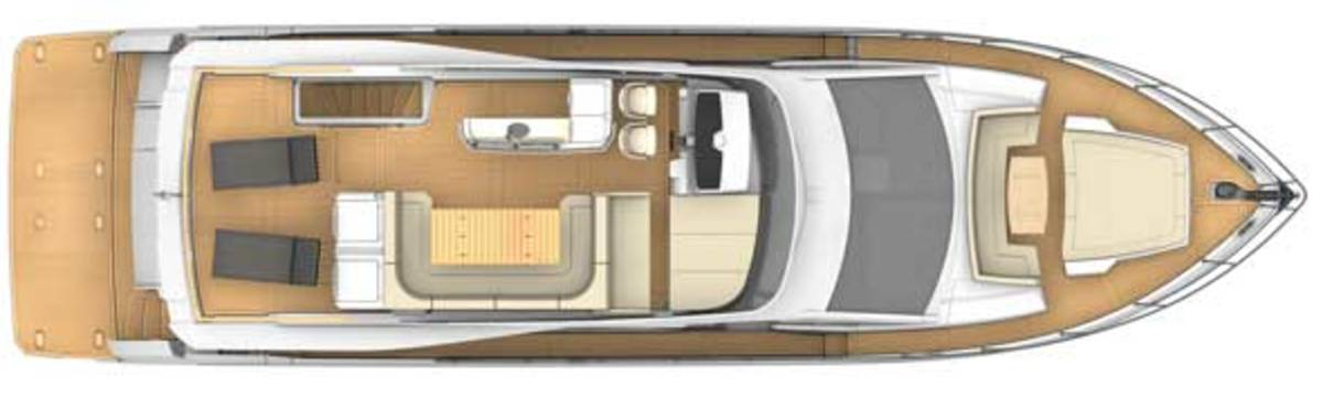 Absolute 72 Fly - Upper deck layout plans