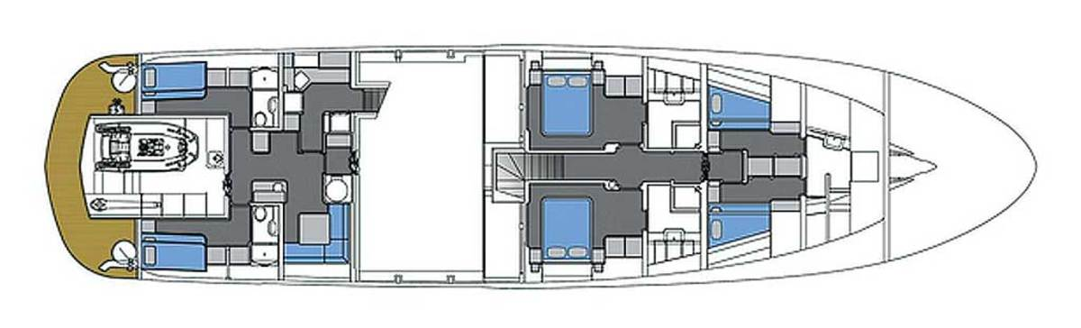Horizon CC 105 Explorer - Lower Deck layout diagram - click to enlarge