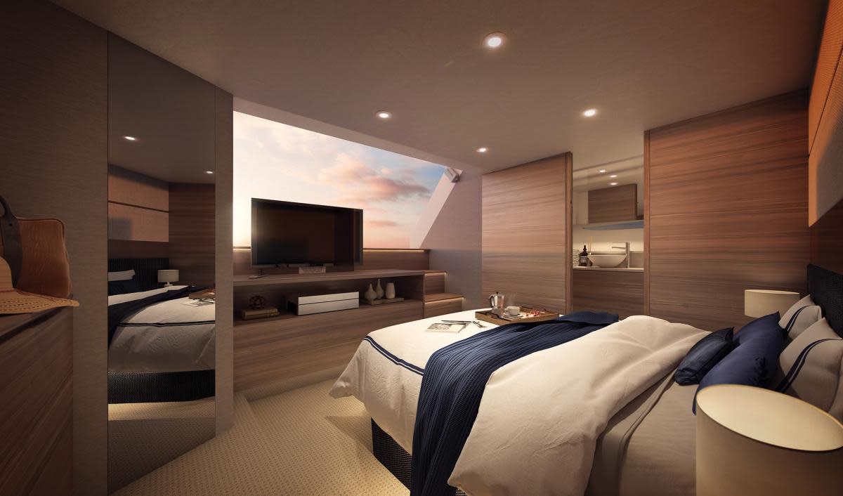 Maritimo X60 stateroom