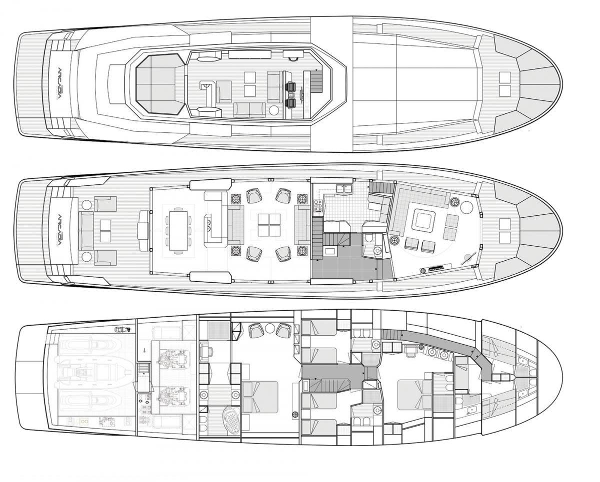 Arcadia 100 layout diagrams