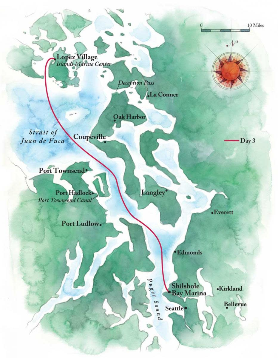 Capt. BIll Pike's Route