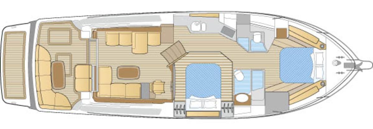 Sabre 48 Salon Express layout diagram