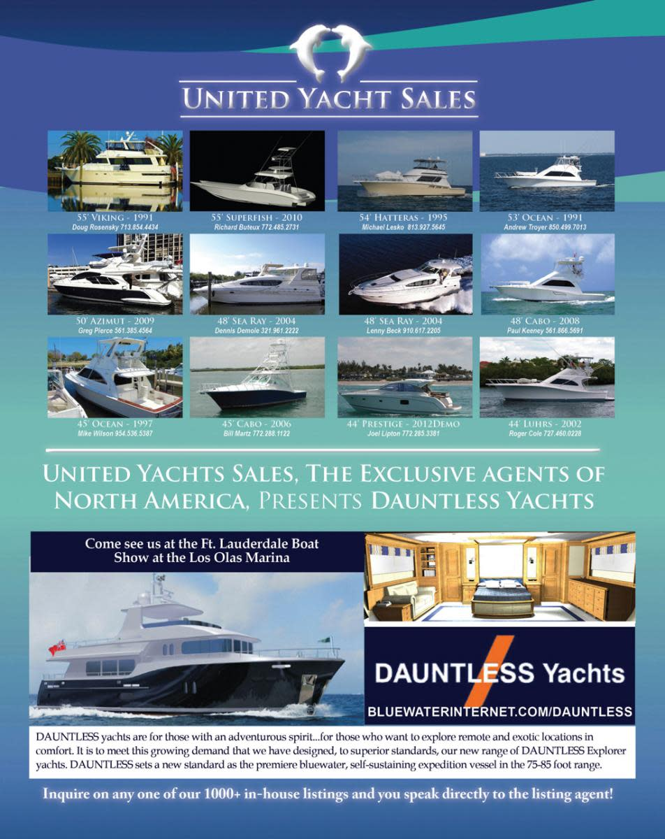 United Yacht Sales elect brokerage ads