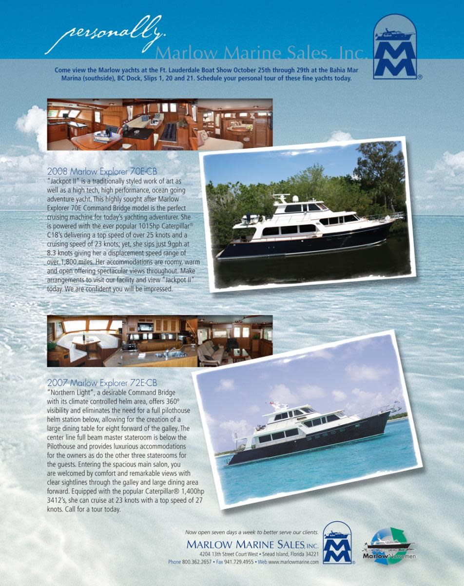 Marlow Marine Sales, Inc. select brokerage ads