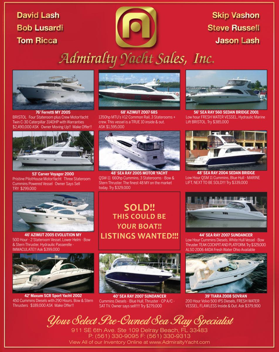 Admiralty Yacht Sales select brokerage ads