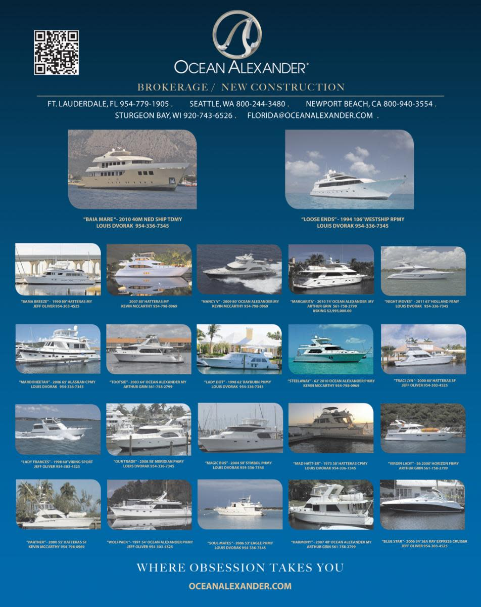 Ocean Alexander select brokerage ads