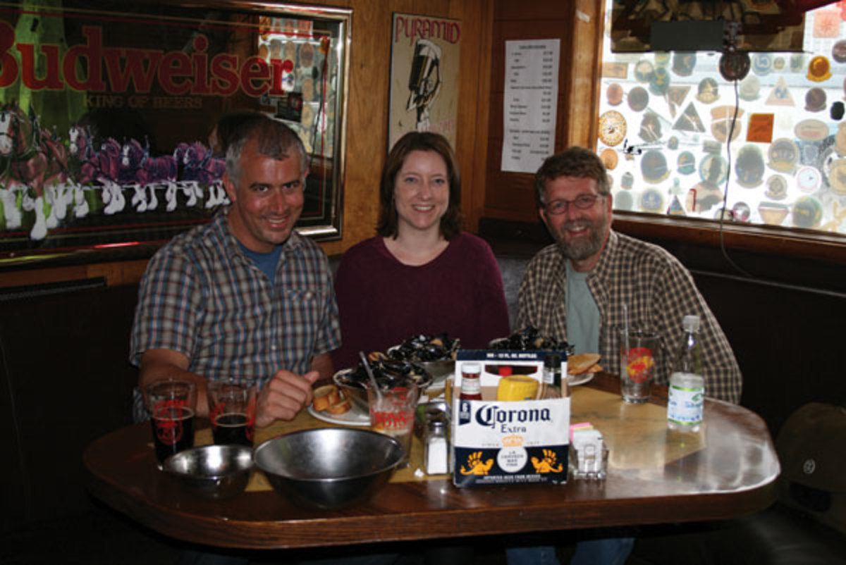 David and Lisa Hensel and the author convening at Coupeville's Toby's Tavern.