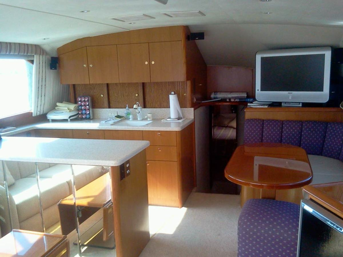 Ocean 48 Super Sport Galley - click to enlarge