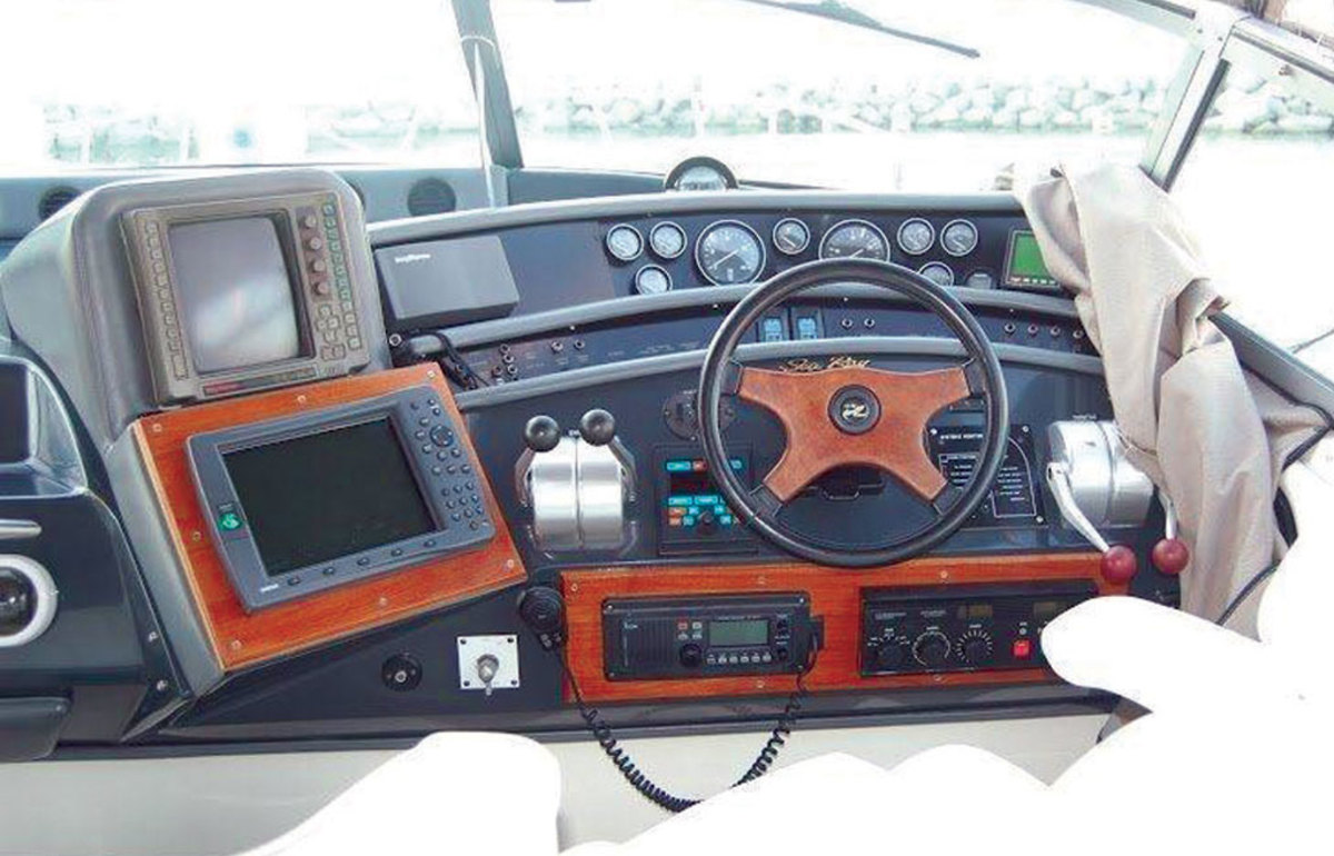The helm can accommodate one new MFD. Click to enlarge photo