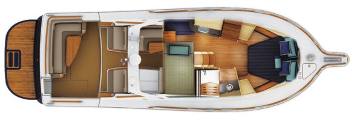 Tiara 3600 Coronet Layout Diagram