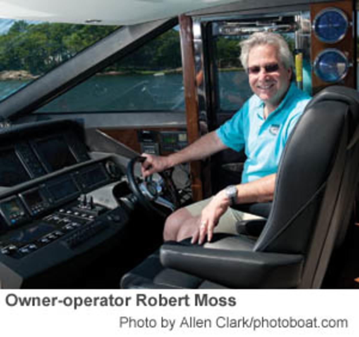 Owner-operator  Robert Moss -Photo by Allen Clark/photoboat.com