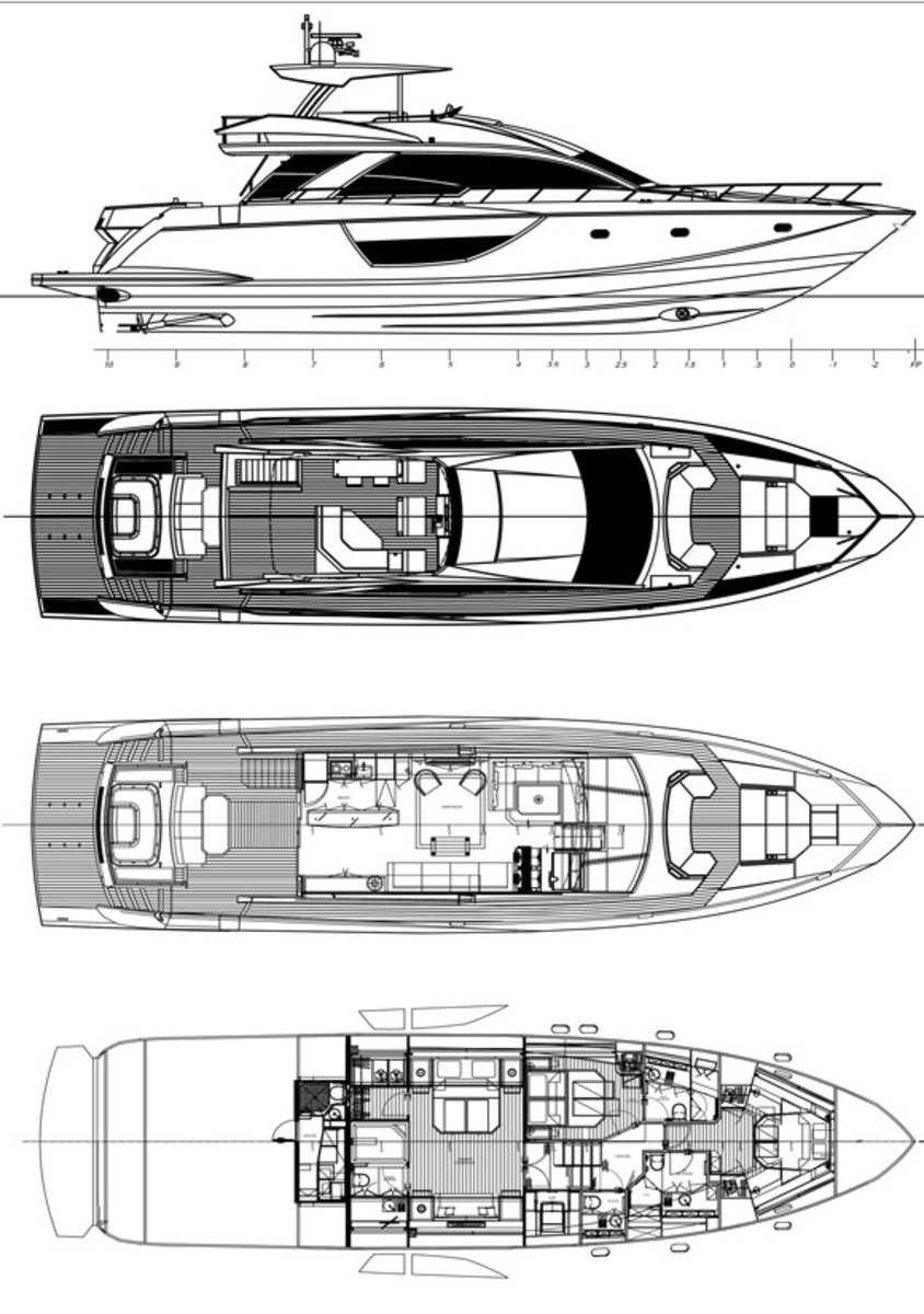 Cheoy Lee Alpha 76 Flybridge layout diagram