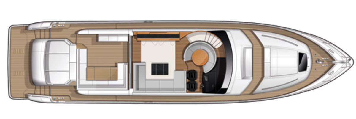 Princess V72 - layout diagram - Main Deck