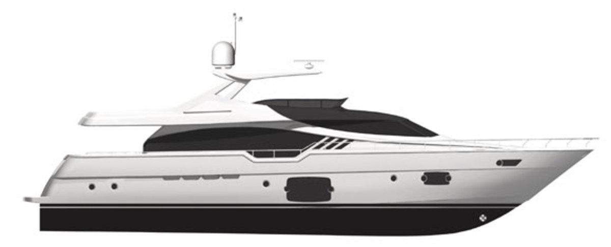 Ferretti 870 - profile diagram