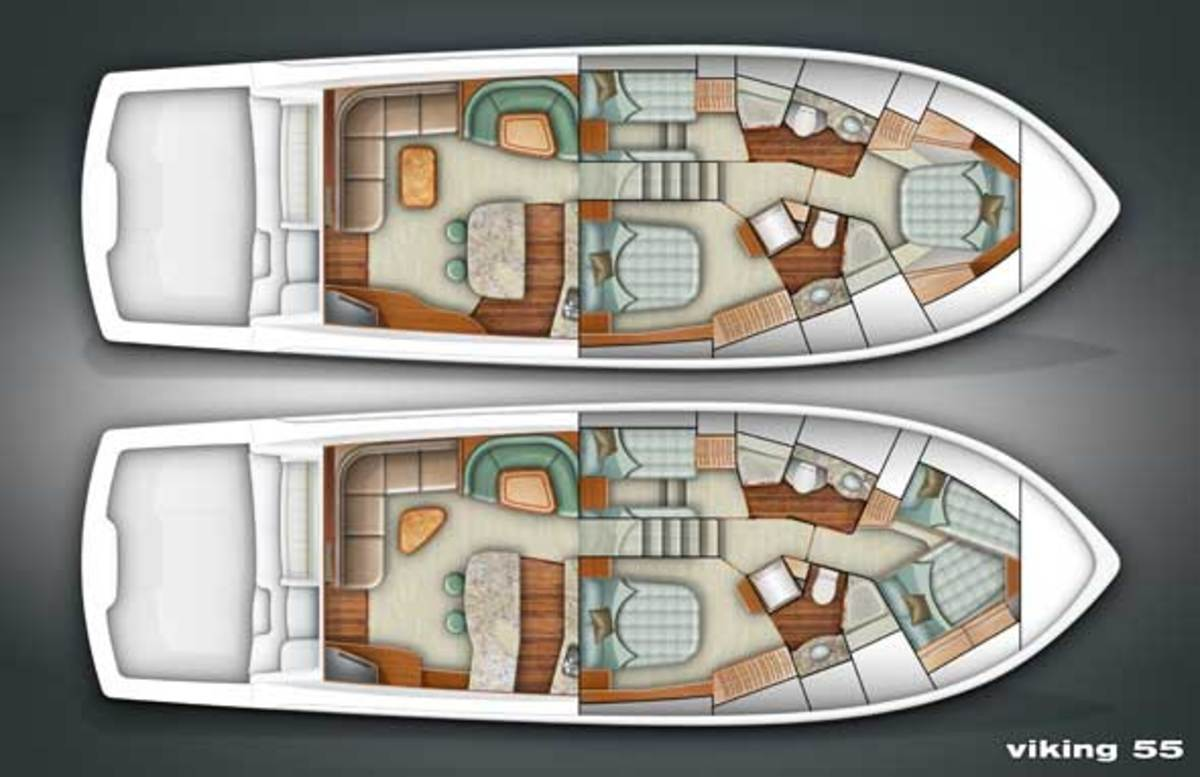Viking 55 Convertible layout diagram