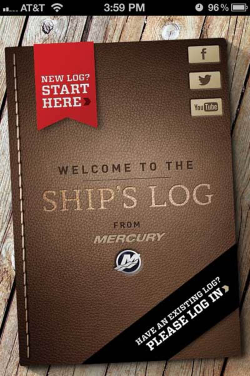 Mercury Marine's Ship's Log App