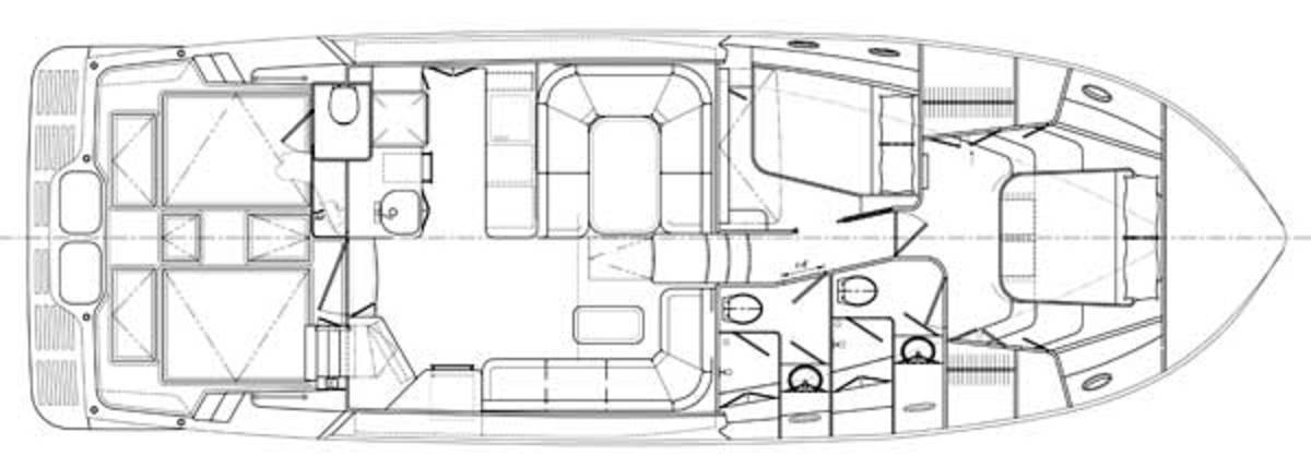 Mikelson M50 Sportfisher -  layout diagram