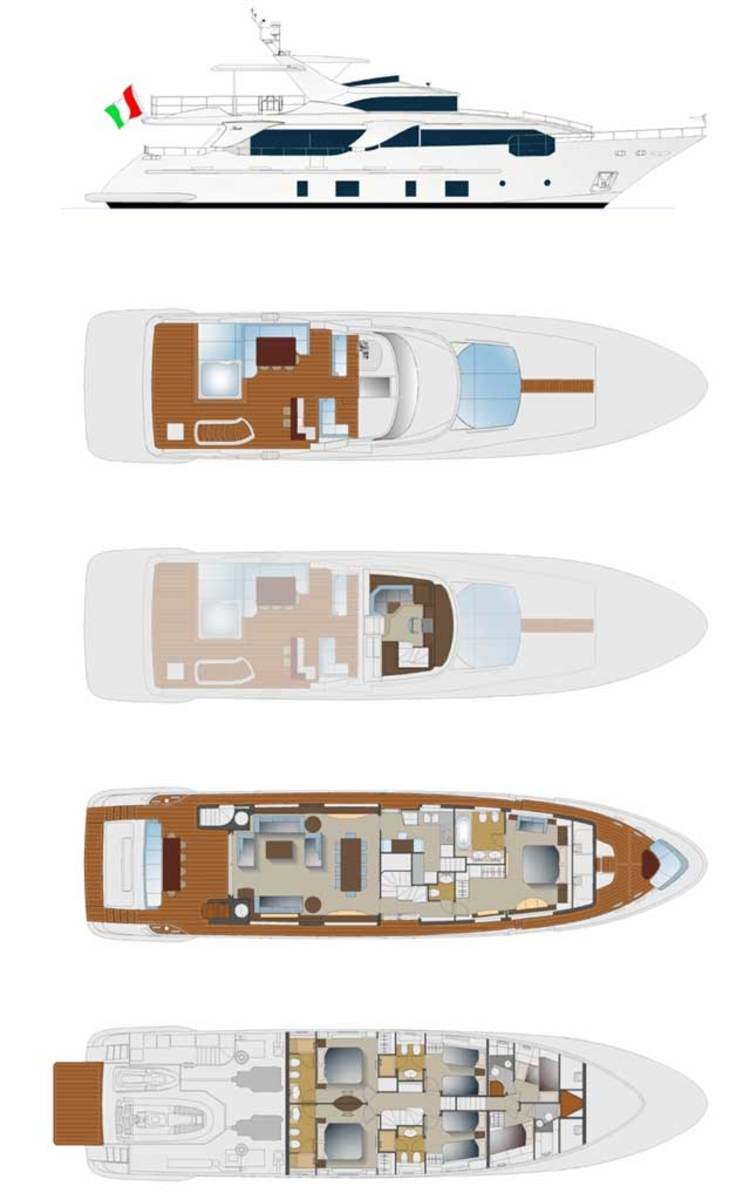 Click to See Benetti Delfino 93 Layout Plans