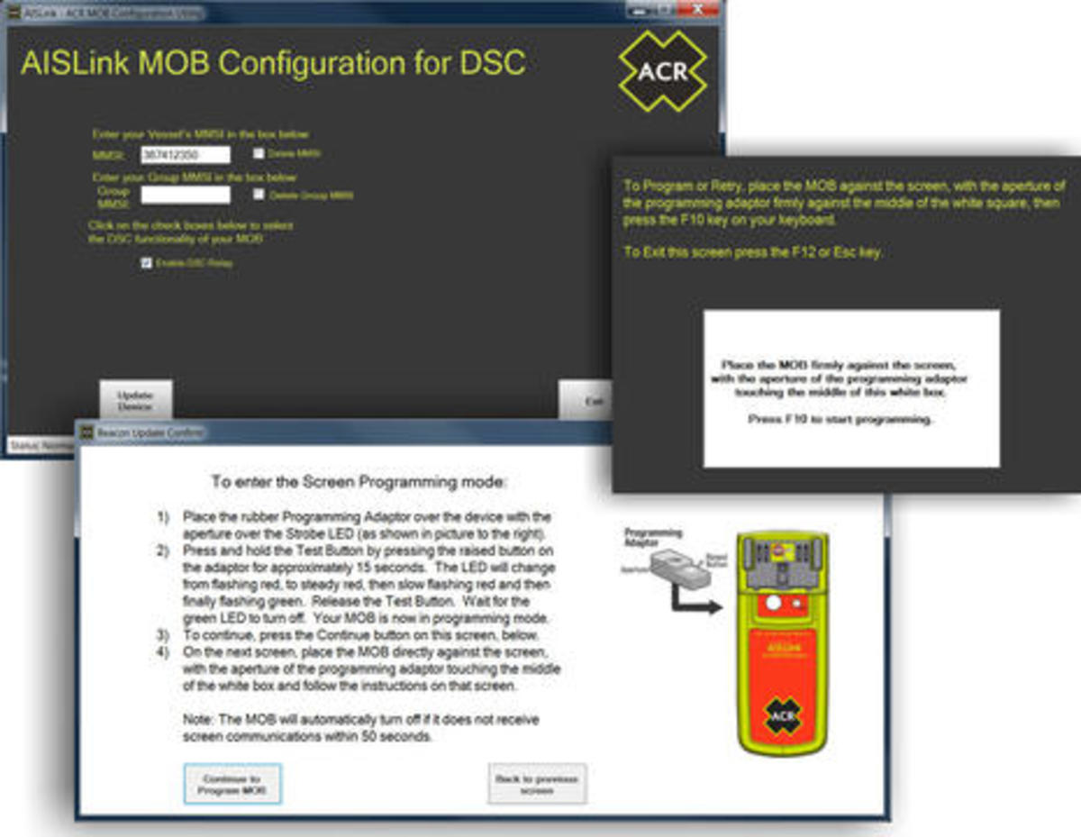 Testing AIS MOB beacons, ACR's DSC feature especially