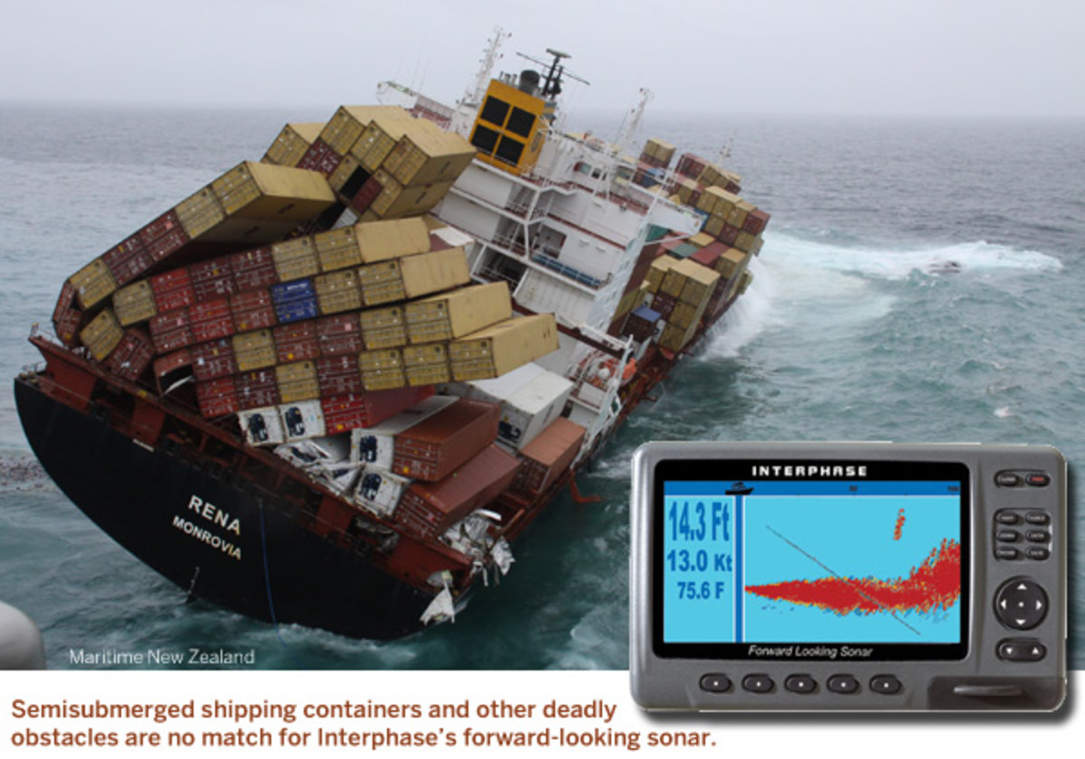 Semisubmerged shipping containers and other deadly obstacles are no match for Interphase's forward-looking sonar.