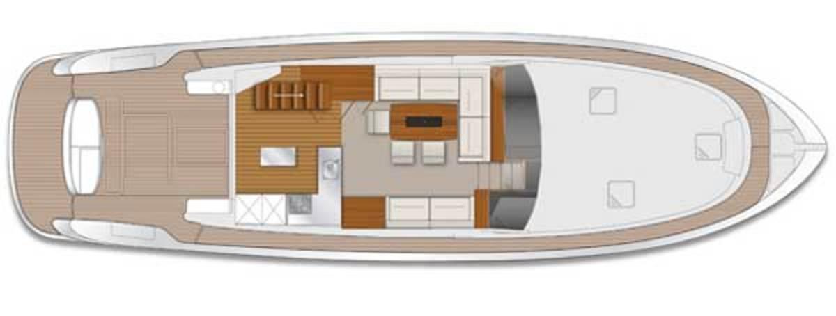 Maritimo M58 Saloon layout digram