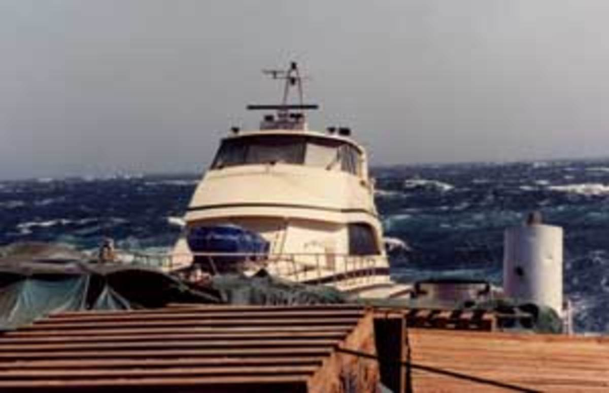 After the rescue, the 72 makes her way north from Panama onboard the Sea Beach