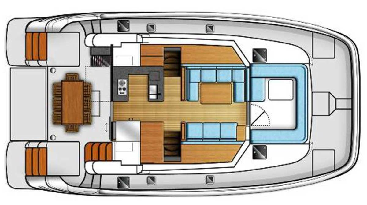 MarineMax 464 Cabins Layout Plans