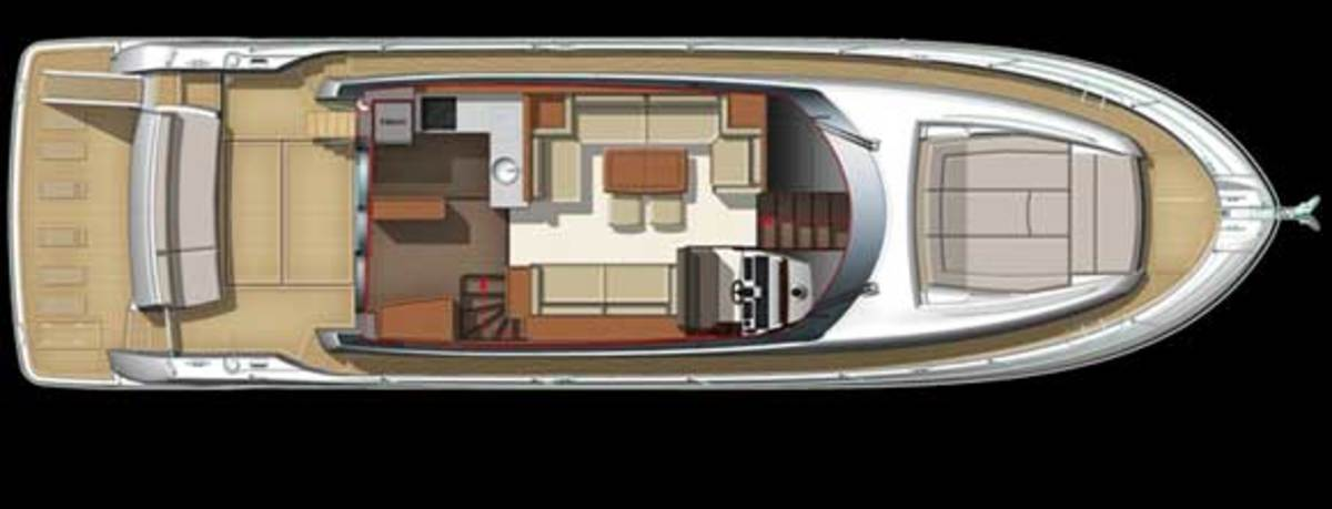 Prestige 550 layout diagram - main deck