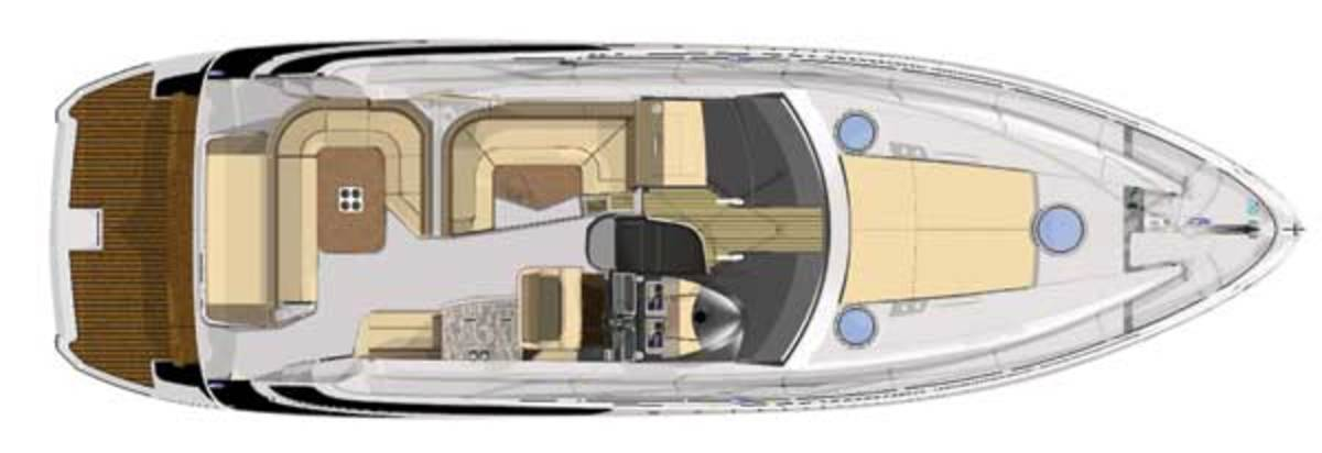 Regal 46 Sport Coup - upper deck layout diagram