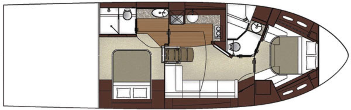 Sea Ray 510 Sundancer - layout cabin