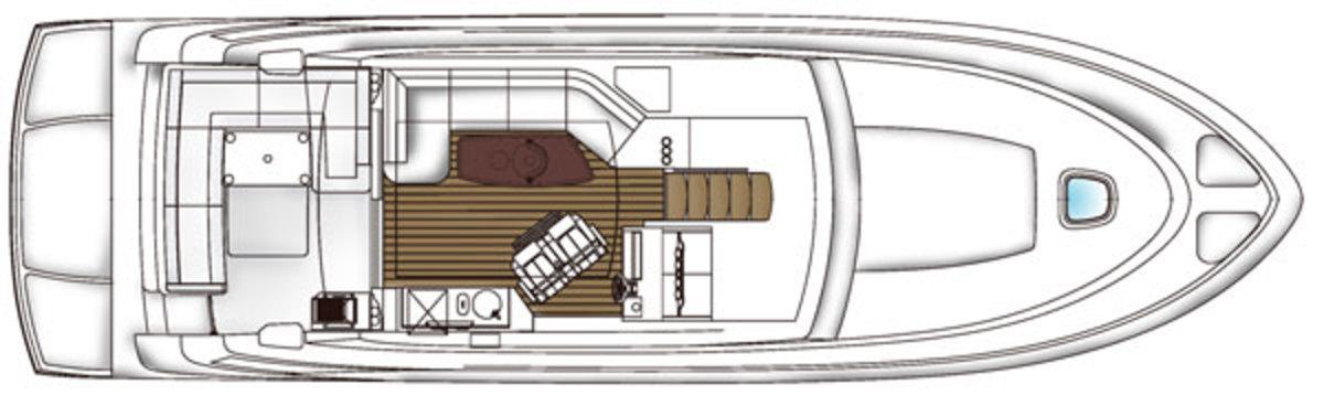 Sea Ray 510 Sundancer layout - upper
