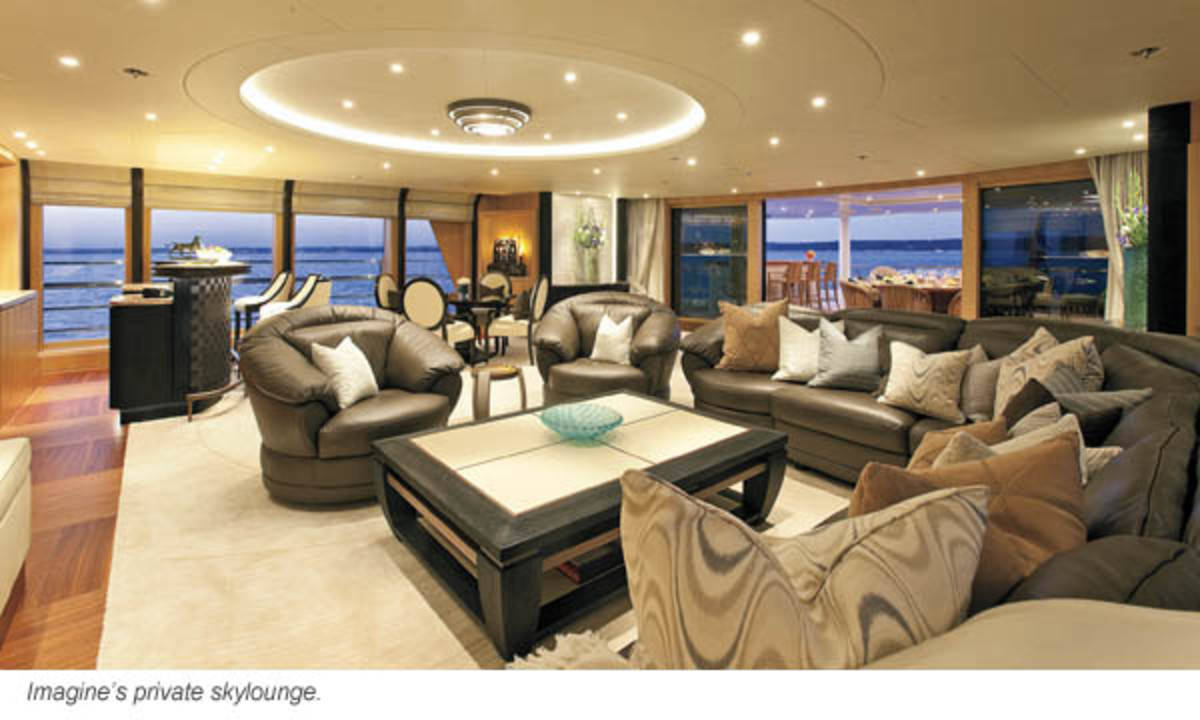 Imagine's private skylounge.