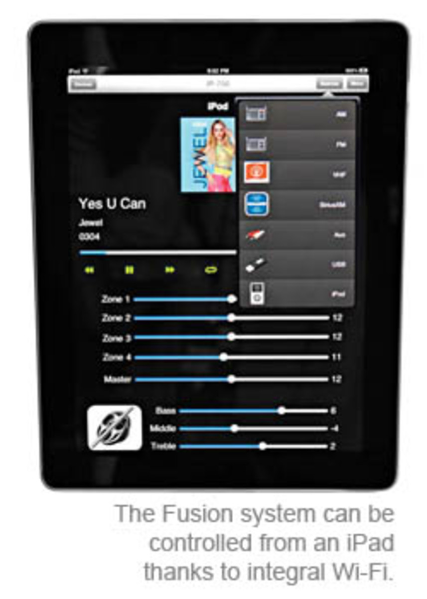 The Fusion system can be controlled from an iPad thanks to integral Wi-Fi.